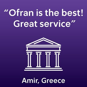 Ofran guarantees the best service and rates - France